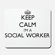 Keep calm I'm a Social Worker Mousepad