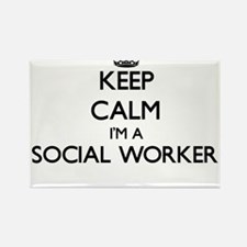 Keep calm I'm a Social Worker Magnets