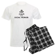 Keep calm I'm a Social Worker Pajamas