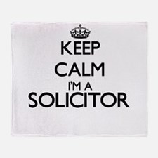 Keep calm I'm a Solicitor Throw Blanket