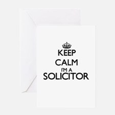 Keep calm I'm a Solicitor Greeting Cards