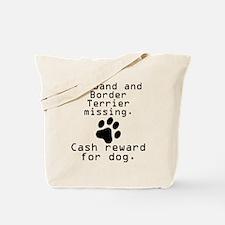 Husband And Border Terrier Missing Tote Bag