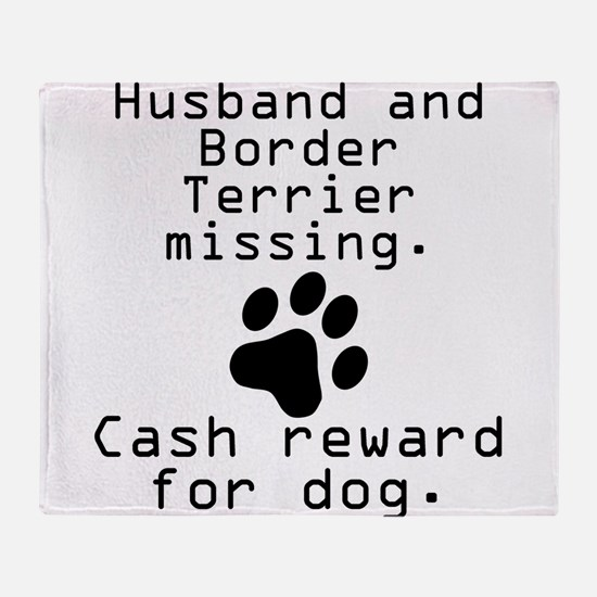 Husband And Border Terrier Missing Throw Blanket