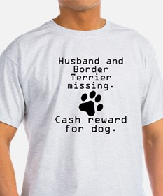 Husband And Border Terrier Missing T-Shirt