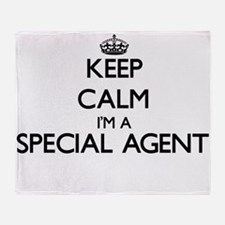 Keep calm I'm a Special Agent Throw Blanket
