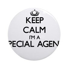 Keep calm I'm a Special Agent Ornament (Round)