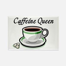 Caffeine Queen Rectangle Magnet