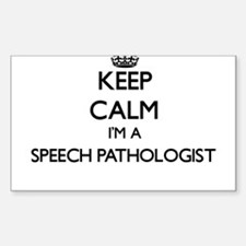 Keep calm I'm a Speech Pathologist Decal