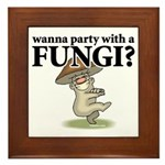 Party with Fungi Framed Tile