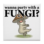 Party with Fungi Tile Coaster