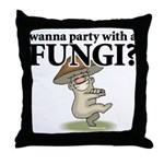 Party with Fungi Throw Pillow