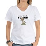 Party with Fungi Women's V-Neck T-Shirt