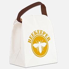 Beekeeper Stencil Canvas Lunch Bag