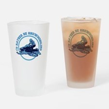 I'd Rather Be Snowmobiling Drinking Glass