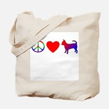 Peace, Love, Chihuahua Tote Bag