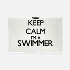 Keep calm I'm a Swimmer Magnets