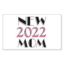 2015 New Mom Sticker (rectangle 10 Pk)