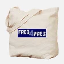 Fred for Pres Blue Tote Bag
