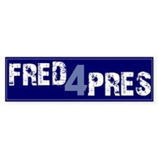Fred for Pres Blue Bumper Bumper Sticker