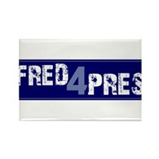Fred for Pres Blue Rectangle Magnet
