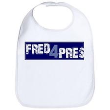 Fred for Pres Blue Bib