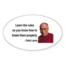 Dalai Lama 11 Oval Decal
