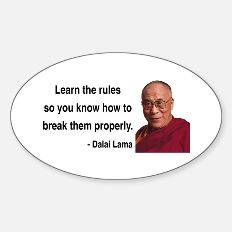Dalai Lama 11 Oval Decal