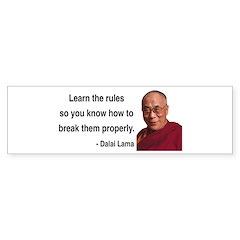 Dalai Lama 11 Bumper Bumper Sticker