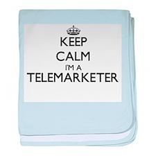 Keep calm I'm a Telemarketer baby blanket