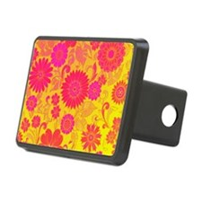 Retro Floral of pink and y Hitch Cover