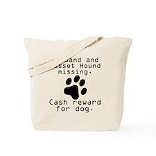 Husband And Basset Hound Missing Tote Bag