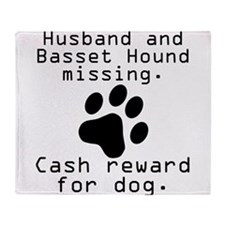 Husband And Basset Hound Missing Throw Blanket