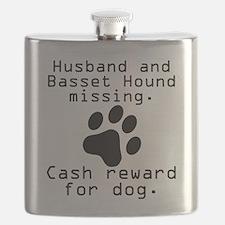 Husband And Basset Hound Missing Flask