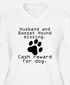 Husband And Basset Hound Missing Plus Size T-Shirt