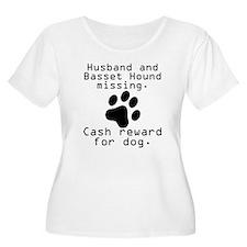 Husband And Basset Hound Missing Plus Size T-Shirt