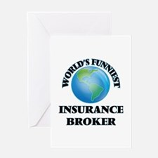 World's Funniest Insurance Broker Greeting Cards