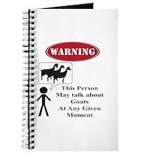 Funny Goat Warning Journal