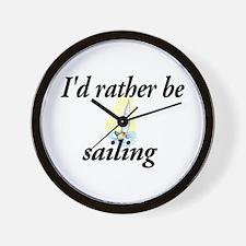 I'd rather be sailing - Wall Clock