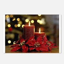 Cute Merry christmas candle Postcards (Package of 8)