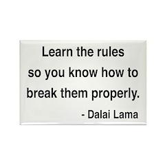 Dalai Lama 11 Rectangle Magnet (100 pack)