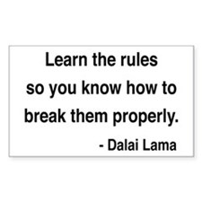 Dalai Lama 11 Rectangle Decal