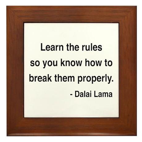 Dalai Lama 11 Framed Tile
