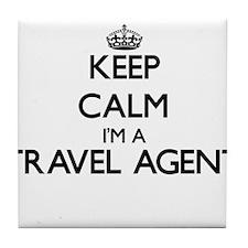 Keep calm I'm a Travel Agent Tile Coaster
