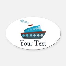 Personalizable Cruise Ship Oval Car Magnet