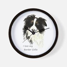 I love my Border Collie Pet Dog Wall Clock