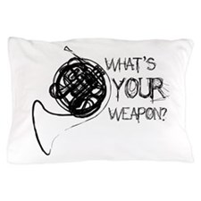 French Horn Weapon Pillow Case
