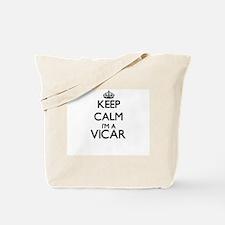 Keep calm I'm a Vicar Tote Bag