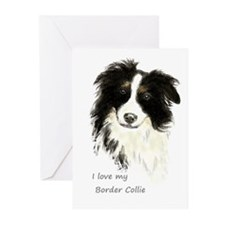 I love my Border Collie Pet Dog Greeting Cards