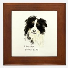 I Love My Border Collie Pet Dog Framed Tile