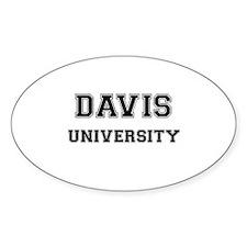 DAVIS UNIVERSITY Oval Decal